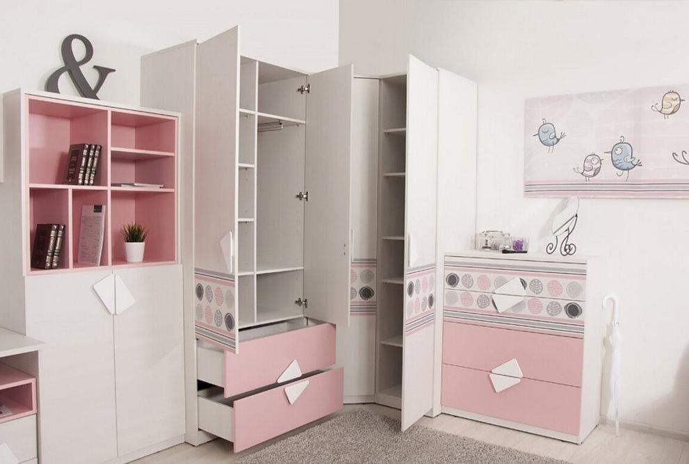 Мебель из ДСП для комнаты девочки школьного возраста