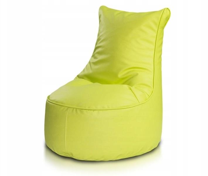 Бескаркасное кресло с обивкой из эко кожи