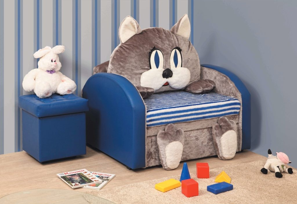 Раскладное детское кресло-кот
