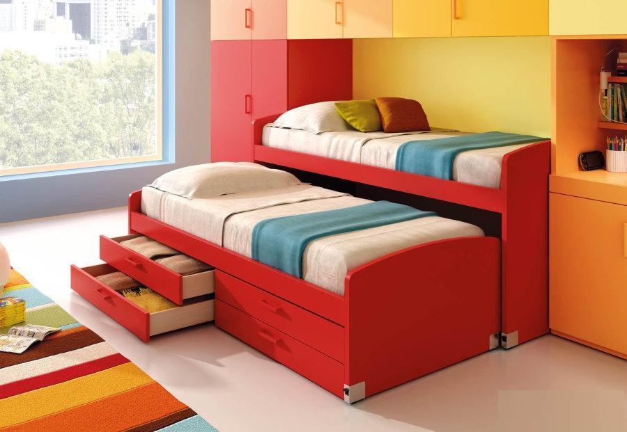 Кровать-трасформер для двоих детей