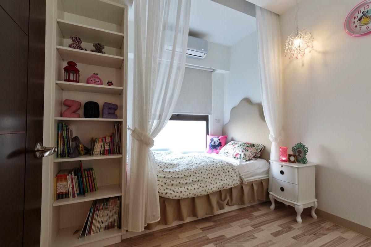 кровать в нише детский уголок
