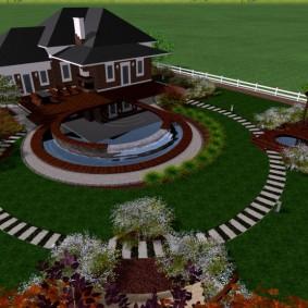 Круглая схема планировки садового участка
