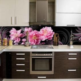 кухонный фартук из мдф дизайн