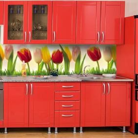 кухонный фартук из мдф фото декор