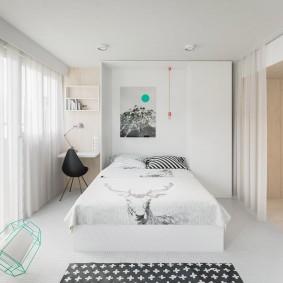 Кровать-трансформер в маленькой квартире