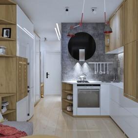 Угловой гарнитур в маленькой квартире