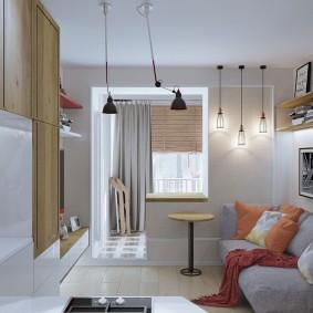 Дизайн квартиры студии 22 кв метра