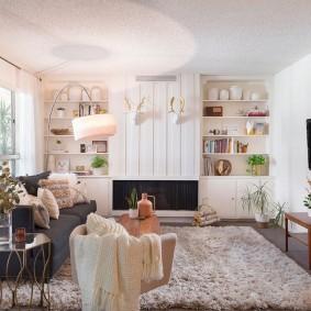 квартира в американском стиле гостиная фото