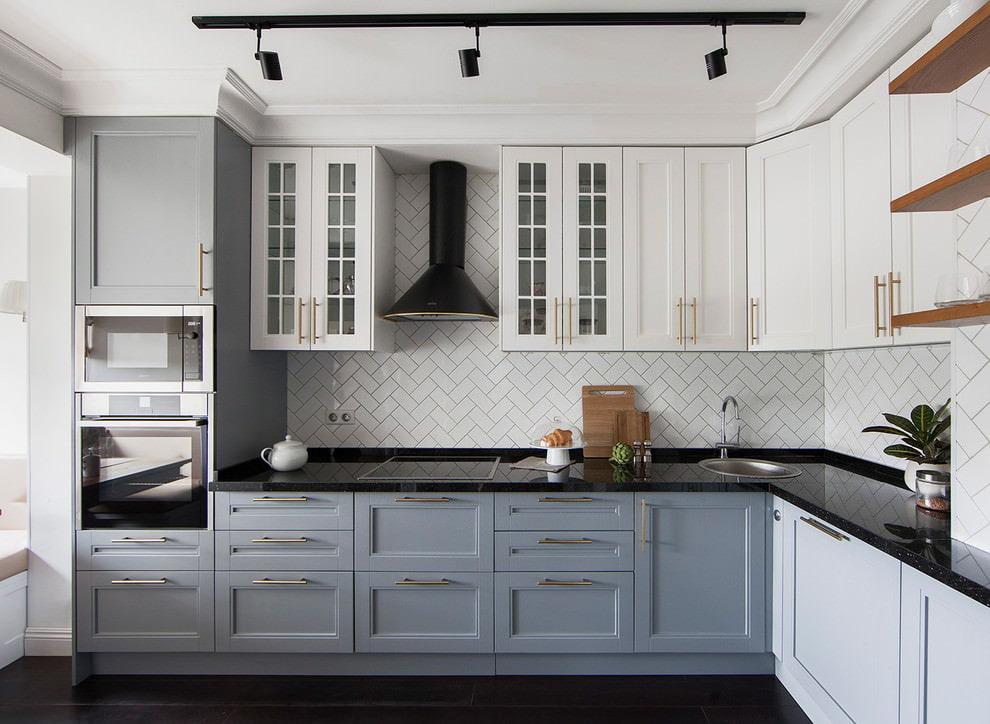 квартира в американском стиле кухня фото