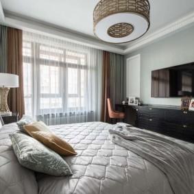 квартира в американском стиле спальная комната
