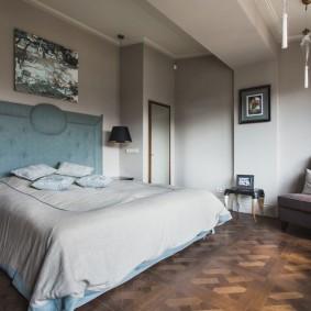 квартира в американском стиле спальная комната фото