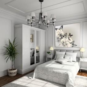 квартира в белом цвете декор