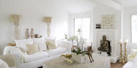 квартира в белом цвете декор идеи