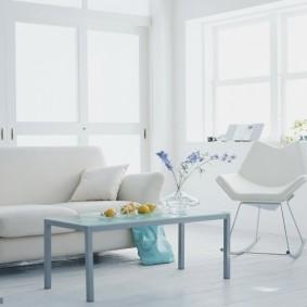 квартира в белом цвете оформление