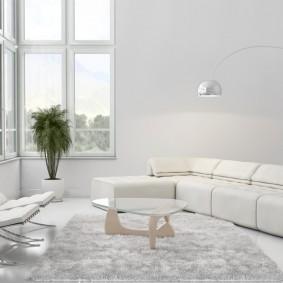 квартира в белом цвете идеи