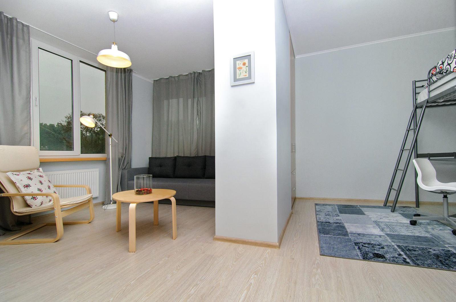 лаконичный дизайн однокомнатной квартиры