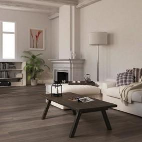 ламинат в гостиную дизайн фото