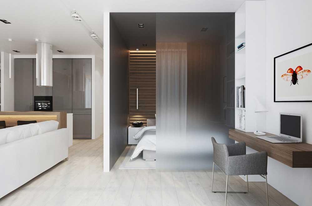 Дизайн маленькой квартиры-студии в стиле минимализм