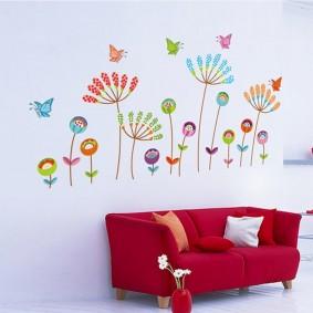 наклейки для детской комнаты дизайн идеи