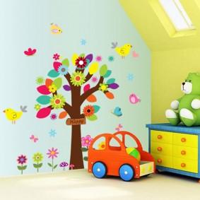 наклейки для детской комнаты идеи дизайн