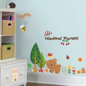 наклейки для детской комнаты идеи дизайна