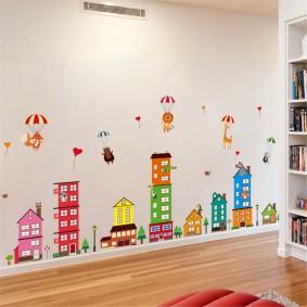 наклейки для детской комнаты декор фото