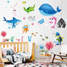 наклейки для детской комнаты фото декор