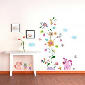 наклейки для детской комнаты фото декора