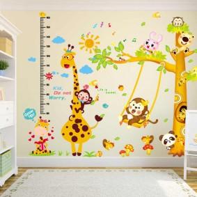 наклейки для детской комнаты декор идеи
