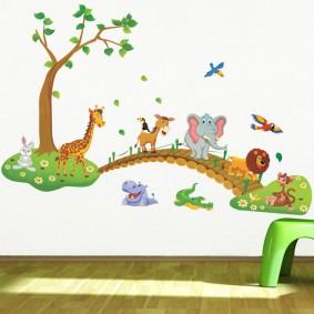 наклейки для детской комнаты идеи декор