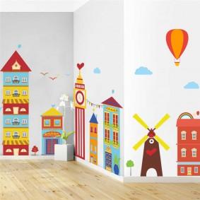 наклейки для детской комнаты идеи декора