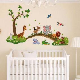 наклейки для детской комнаты фото