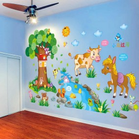 наклейки для детской комнаты интерьер