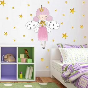 наклейки для детской комнаты фото интерьер
