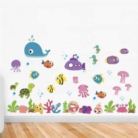наклейки для детской комнаты фото интерьера