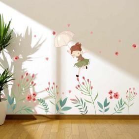 наклейки для детской комнаты идеи интерьер