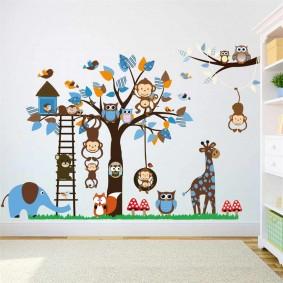 наклейки для детской комнаты фото оформление