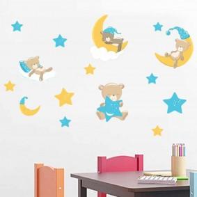 наклейки для детской комнаты идеи