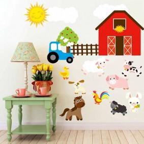 наклейки для детской комнаты фото оформления