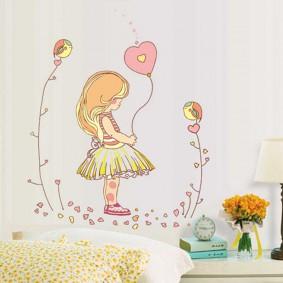 наклейки для детской комнаты идеи оформление