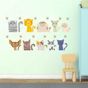 наклейки для детской комнаты варианты
