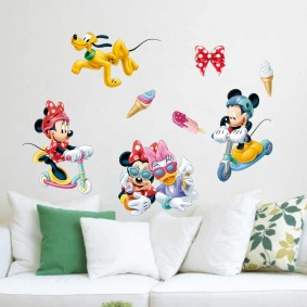 наклейки для детской комнаты варианты фото