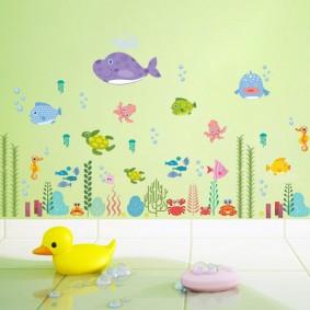 наклейки для детской комнаты идеи варианты
