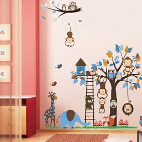 наклейки для детской комнаты виды