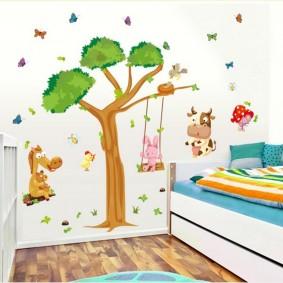 наклейки для детской комнаты виды фото