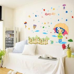 наклейки для детской комнаты фото виды