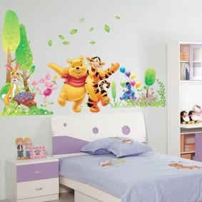наклейки для детской комнаты идеи виды