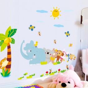 наклейки для детской комнаты обзор