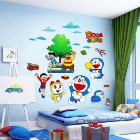 наклейки для детской комнаты виды дизайна
