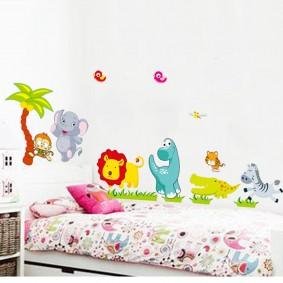 наклейки для детской комнаты виды декора